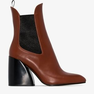 New In Box! Chloé Sepia Brown Ankle Boots